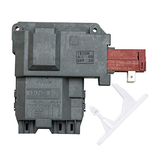 1317632 131763202 131763256 Washer Door Lock Latch Switch Assembly & 1317633 Door Strike for Electrolux, Frigidaire, White-Westinghouse, Crosley, Gibson, GE. Replace Part 131763256 & 131763310