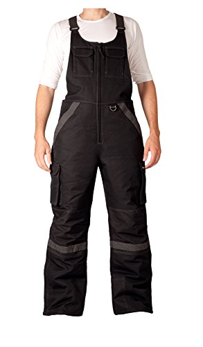 Arctix Men's Tundra Ballistic Bib Overalls With Added Visibility, Black, Large, Large (36-38W 32L)