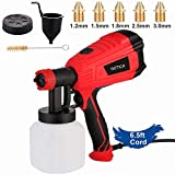 YATTICH Paint Sprayer, 500 Watt Home Electric Spray Gun, with 3 Patterns and 5 Copper Nozzles, Easing Cleaning, for Furniture, Fence, Car, Bicycle, Chair etc. YT-191