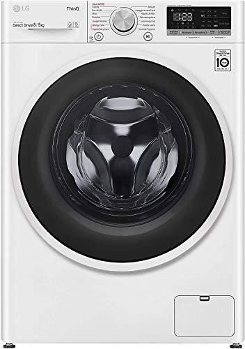LG F4DT408AIDD Lavasciuga a Carica Frontale 8/5 Kg, Libera Installazione, 1400 Giri/min, Lavatrice e Asciugatrice con...