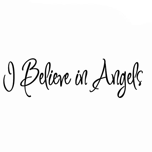 I Believe in Angels Wall Decal Inspirational Home Decor Saying VWAQ-592