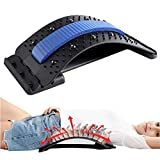 Back Stretcher Multi-Level Back Stretching Device Spine Deck Lumbar Support Lower Spinal Back Massager Device for Bed & Chair & Car for Herniated Disc, Sciatica, Scoliosis