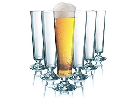 Tivoli Seattle Bicchieri per Birra - 200 ml - Set di 6 – Bicchieri di Alta qualità - Lavabili in lavastoviglie – Bicchieri di Cristallo