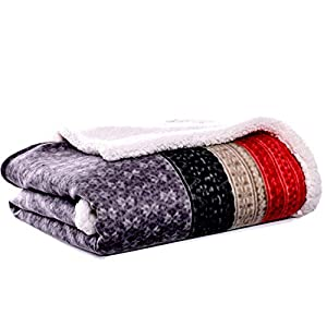 SUPER SOFT & COZY- Stay warm in copy wrapped up in fleece sherpa throws, the face of the throw features our signature prints made of super soft brushed polyester reversing to our to cozy sherpa. These are perfect to use around the house enjoying your...