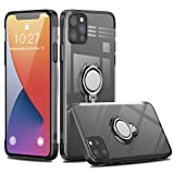 Nijiadi iphone 12 pro用 ケース iphone 12用 ケース【2020年新型】クリア リング 透明 TPU メ……