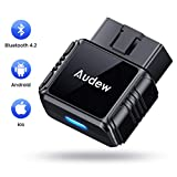 Audew OBD2 Scanner - Bluetooth4.2 OBDII Car Diagnostic Trouble Codes for iOS and Android - Universal...