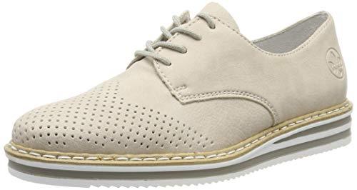 Rieker N0229-60, Zapatos de Cordones Derby Mujer, Beige (Muschel 60), 41 EU