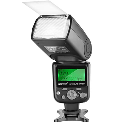 Neewer NW760 Remote TTL Flash Speedlite with LCD Display for Nikon D7200 D7100 D7000 D5500 D5300 D5200 D5100 D5000 D3300 D3200 D3100 D700 D600 D500 D90 D80 D70 D60 D50 and Other Nikon DSLR Cameras