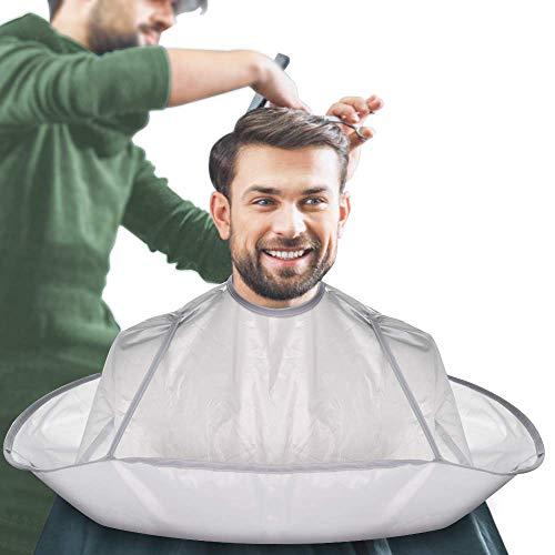 JFAN Mantello Da Barbiere Uomo Ombrello Da Taglio Per Capelli Pieghevole Grembiule Da Parrucchiere Hair Catcher Barba Da Barba Per il Salone Per Adulti