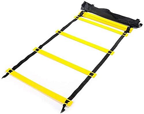 VLFit Agility Ladder Speed Ladder, 6m long / 20' wide, 12 Rungs + Carry Bag | Coordination Speed Ladder for Football, Fitness, Sports, Handball, Soccer