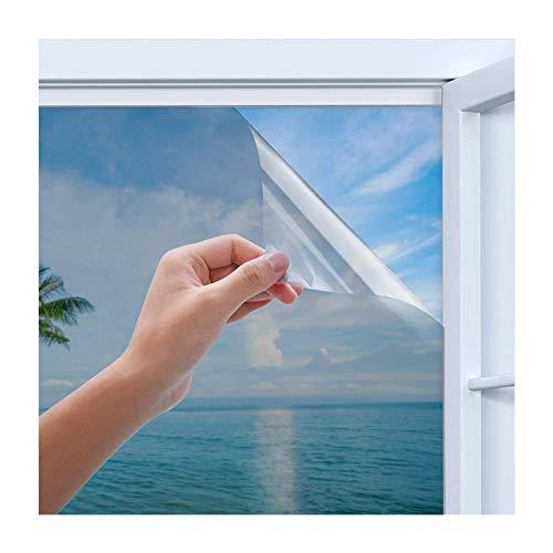 Rhodesy Pellicola Specchio da Finestra Riflettente Monodirezionale Argentata, Homegoo Blocco Sole per Calore Anti-UV,...