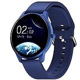 CUBOT Smartwatch, W03 1.3 Zoll Touch-Farbdisplay Armbanduhr, Fitnessuhr mit Schrittzähler, Fitness Tracker IP68 Wasserdicht Sportuhr Smart Watch mit Pulsuhr und Schlafmonitor für Damen Herren (Blau)