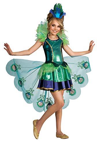 Rubie's Disfraz de Pavo Real, Disfraz de Pavo Real para niños, como se Muestra, Pequeño