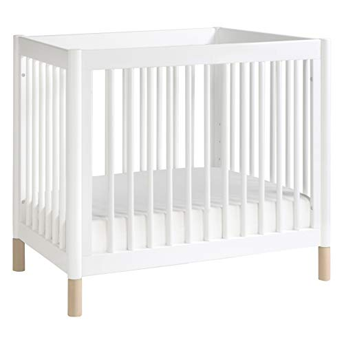 Product Image 1: Babyletto Gelato 4-in-1 Convertible Mini Crib in White / Washed Natural, Greenguard Gold Certified