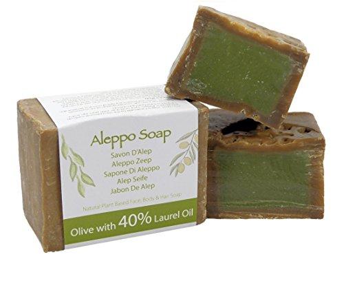 Jabón natural de Alepo tradicional y genuino, hecho a mano