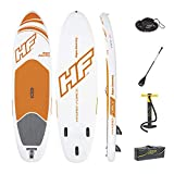 Hydro-Force Aqua Journey Inflatable Stand Up Paddle Board, 9' x 30' x 6' | Inflatable SUP for Adults & Kids | Complete Kit Includes Adjustable Aluminum Paddle, Hand Pump, Travel Bag, Surf Leash