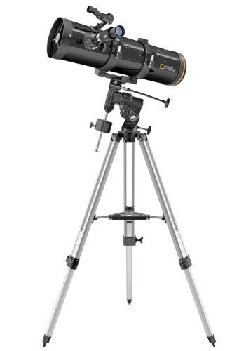 National Geographic Teleskop Newton 130/650 mit äquatorialer Montierung und Stativ inklusive umfangreichem Zubehör