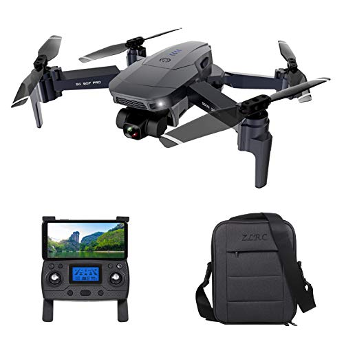Festnight ZLL SG907 Pro GPS RC Drone con fotocamera 4K Gimbal a 2 assi 5G Wifi FPV Posizionamento del flusso ottico Quadcopter Punto di interesse Waypoint Volo 800 m Distanza di controllo con custodia