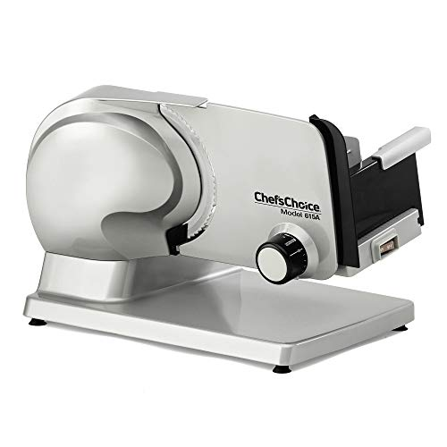 Chef'sChoice 615A000 Tilted Food Carriage for Fast and Efficient Slicing with Removable Blade for Easy Clean, 15.5 x 10.4 x 11 Inches, green