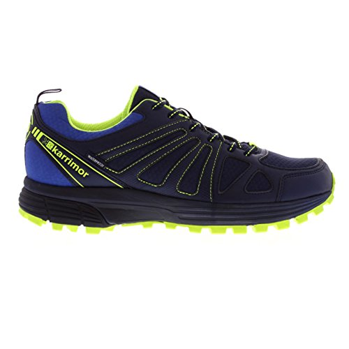 Karrimor Mens Caracal Waterproof Trail Running Shoes Runners Lace Up Breathable Navy/Fluo UK 8 (42)