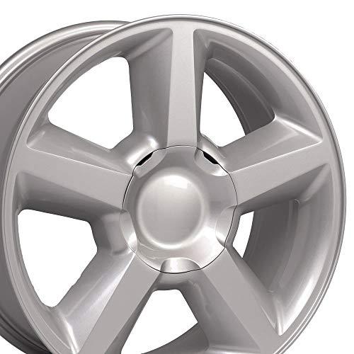 OE Wheels LLC 20 Inch Fits Chevy Silverado Tahoe GMC Sierra Yukon Cadillac Escalade CV83 Painted Silver 20x8.5 Rim Hollander 5308