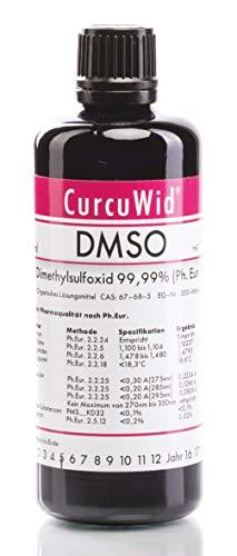 Dimethylsulfoxid DMSO 100ml zum Mega Preis! DMSO in pharmazeutischer Reinheit 99,99% - Ph.Eur. - geprüft nach dem europäischem Arzneibuch - Miron Glasflaschen mit neuem und besseren Tropfer!
