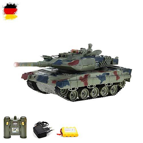 2.4GHz RC ferngesteuerter Panzer Tank Militär-Fahrzeug Modell, 1:28 Gefechtmodi, Schusssimulation, Sound und Beleuchtung, Komplett-Set