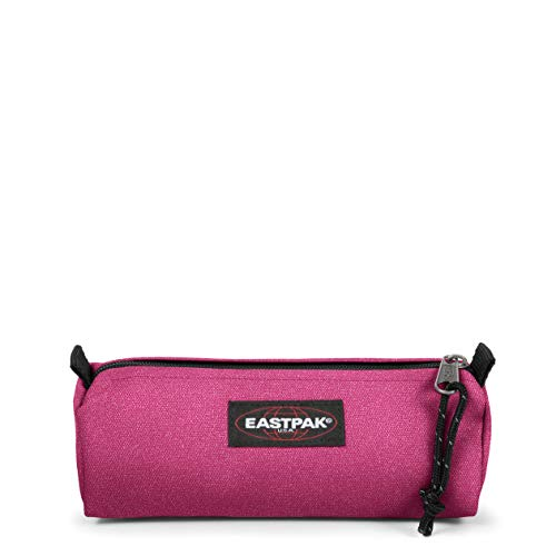 Eastpak Benchmark Single Astuccio, 21 cm, Tessuto glitterato, Rosa (Spark Pink)