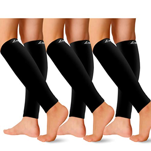 Calf Compression Sleeves for Men and Women for Sports, Running, Shin Splints (Assort5-7pack, Small - Medium)