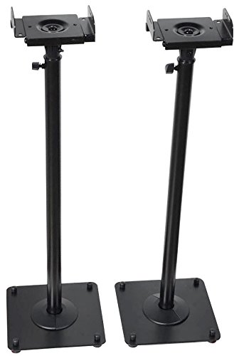 VideoSecu 2 Heavy duty PA DJ Club Adjustable Satellite Speaker Stand MS07B M99 84