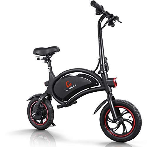 urbetter Bicicleta Electrica Plegable, Ruedas de 12' Inflables Urbana E-Bike, 25km/h, 23 Km Alcance, Control de App, Patinete Eléctrico con Asiento Ajustable para Adultos - B1