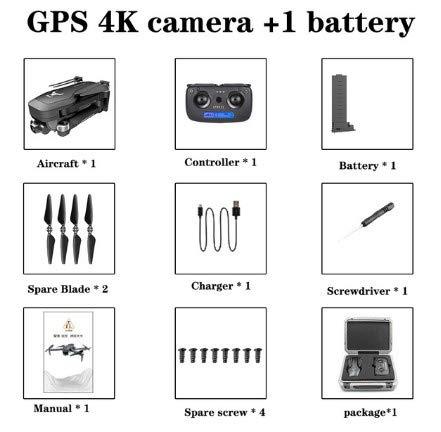 FairOnly Sg906 Pro Drone 4k HD Meccanica Gimbal Camera 5g Wifi Sistema GPA Supporta Tf Card Flight 25 Min Rc Distance 1.2km Valigia EPP giocattoli