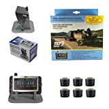Truck System Technologies - TST 507 TPMS with Color Display - Tire Pressure Monitoring System for RVs & Boat Trailers - Sealed Hybrid Marine Sensor - Includes TST Monitor Sunshade - 6 Sensor TPMS Kit