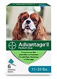Advantage II 6-Dose Medium Dog Flea Prevention, Topical Flea Treatment for Dogs 11-20 Pounds