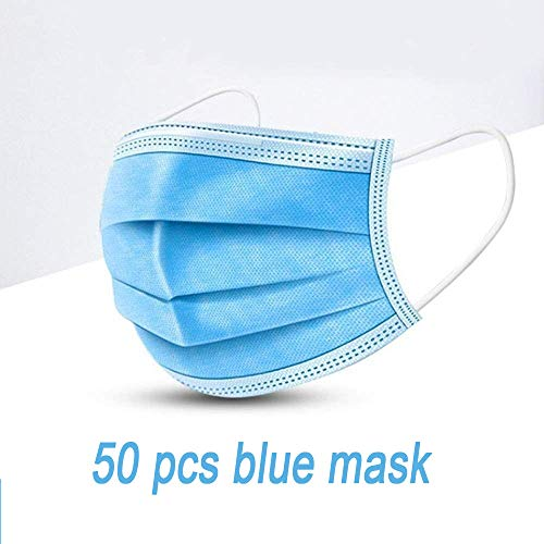 CLK 50 PCS Breathable Carbon Filter, Safety, earhook mask, dust mask, Anti-Pollution and Allergy mask, Anti-particulate mask