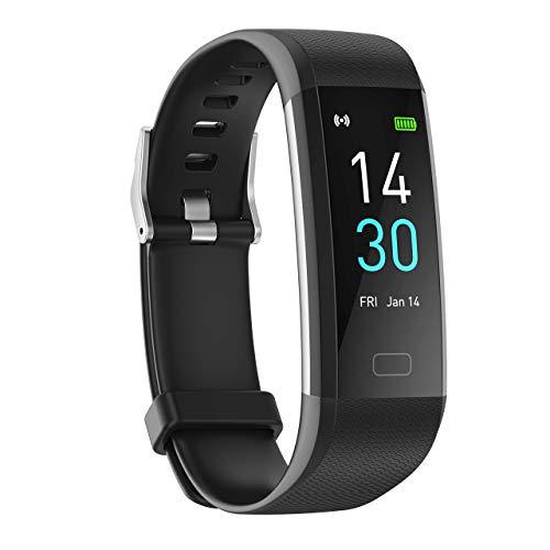 Montre Connectée Température Corporelle, IP68 Etanche Bracelet Connecté Cardio Smartwatch Femme Homme Montre Sport Intelligente Podometre Course Sommeil Fitness Tracker d'Activité pour Android iOS