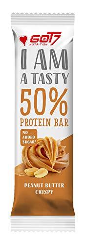 GOT7 50% Protein Bar 60g - Protein Riegel ohne Zuckerzusatz - Low Sugar Eiweißriegel - Fitness Riegel (Peanut Butter Crispy, 10 x 60g)