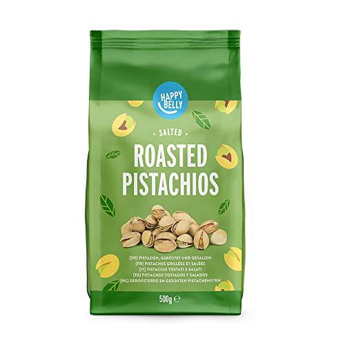 Marca Amazon - Happy Belly Pistachos tostados y salados, 2x5