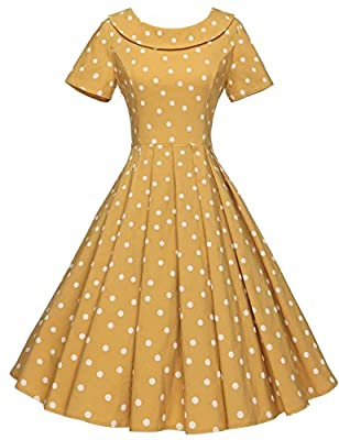 ATTENTION: our size is difference compared to standard US size, so please choose a correct size from our GownTown size chart only in the picture area on the left Style: Audrey Hepburn Style Vintage 1950's Rockabilly Swing Evening Dress 1950`s Swing D...