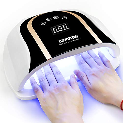 120W UV LED Nail Lamp, Faster Nail Dryer for Gel Polish with 4 Timer Setting, Professional Gel Nail UV Light for Two Hand Curing Lamp with 54 Pcs Light Bead Auto Sensor Nail Machine