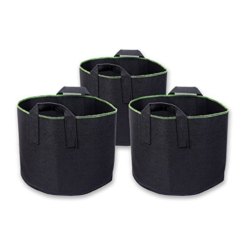 Schramm® 3 Stück 30 Liter Pflanzsäcke aus Vliesstoff Pflanzsack 3 Stück Garten Sack aus Fliesstoff zum Bepflanzen Pflanzgefäß Pflanzbehälter Pflanzbeutel 3er Pack