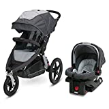 Graco Relay Jogging Stroller Travel System | Includes Relay Jogging Stroller and SnugRide 35 Infant Car Seat, Glacier