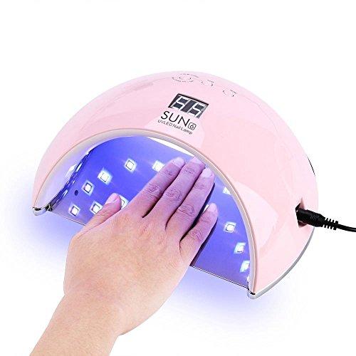 GOTOTOP UV Nail Lamp,48W 21 LEDs UV Led Light Nail Dryer Gel Polish 3 Timers Curing Sun Lamp Art Auto Sensor (Pink)