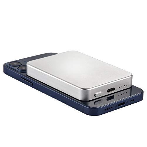 INNOLV iPhone用MagSafeバッテリーパックMagSafe互換のワイヤレスパワーバンク USB C 軽量 ミニポータブル...