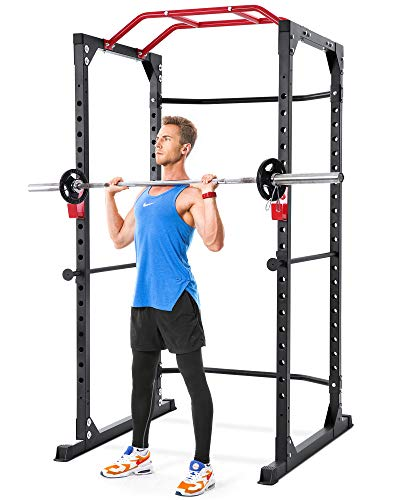 MaxKare Power Cage Rack 19-Level Adjustable with J-Hooks Heavy Duty...