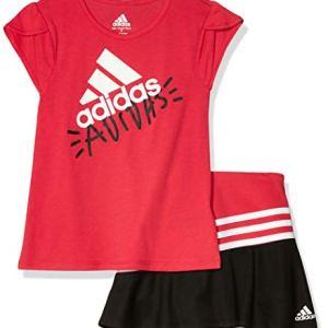 adidas Girls' Sporty Top & Skort Clothing Set