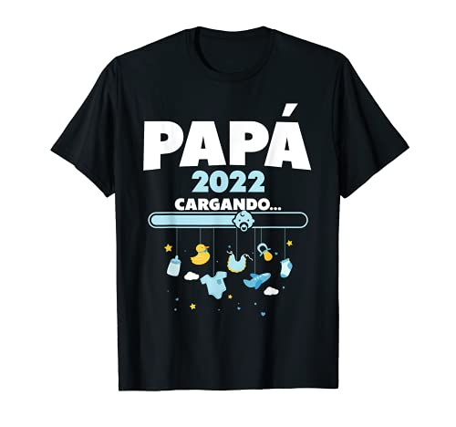 Hombre futuro papá papa regalo padre loading 2022 Camiseta