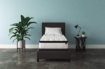 Signature Design by Ashley Chime 12 Inch Plush Hybrid Mattress - CertiPUR-US Certified Foam, Twin