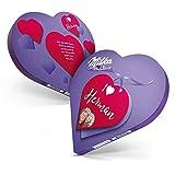 Milka Chocolat personnalisé - Coeur Milka personalisé avec prénom et texte (187 grammes - Coeur Milka)