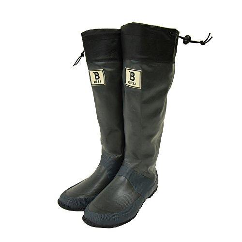(BW-01)日本野鳥の会 バードウォッチング長靴 レインブーツ/ラバーブーツ グレー (S)